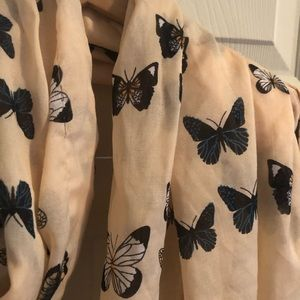 Butterfly circle scarf
